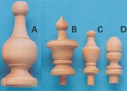 small wood finials