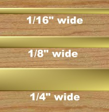 Solid Brass Inlay Strips